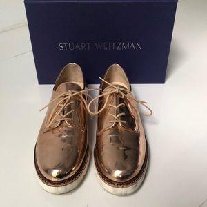 Stuart Weitzman Metro Rose Gold Oxfords